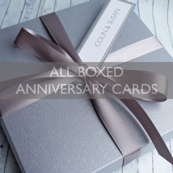 Luxury Boxed Wedding Anniversary Cards