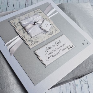 "Tenth Wedding Anniversary Card ""Champagne"""