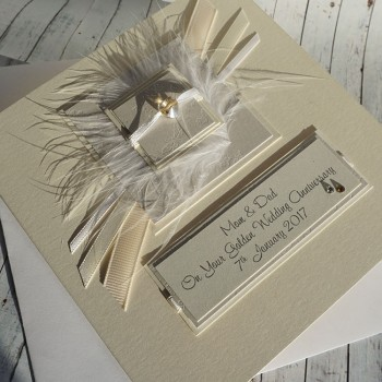Elegance Golden Wedding Card