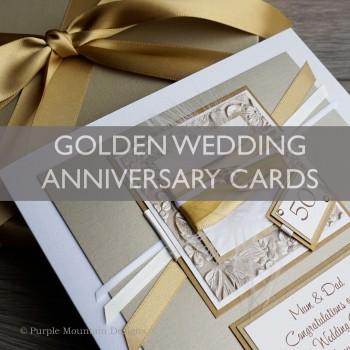 Gold Wedding Anniversary Cards