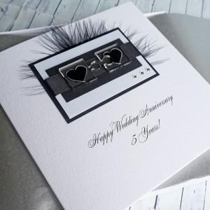 Jigsaw Hearts Boxed Anniversary Card