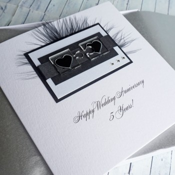 Jigsaw Hearts Boxed Anniversary Card