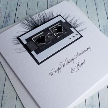 Jigsaw Hearts Wedding Anniversary Card