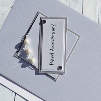 Pearl Wedding Anniversary Card
