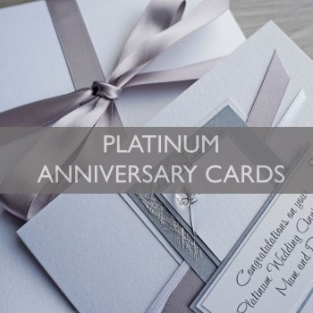 Platinum Wedding Anniversary Cards