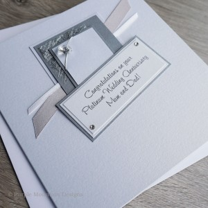Platinum Wedding Anniversary Card