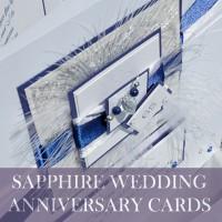 Sapphire Wedding Anniversary Cards