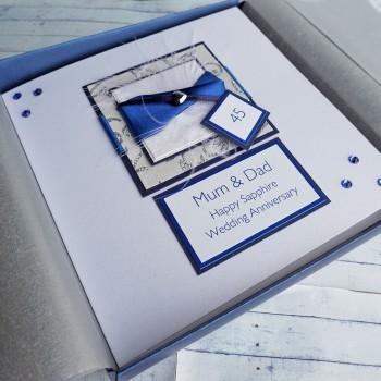 Sapphire Wedding Card