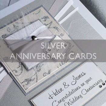 Silver Wedding Anniversary Cards