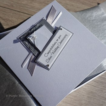 Silver Wedding Anniversary Boxed Card