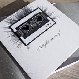 1st Wedding Anniversary Card Jigsaw Hearts