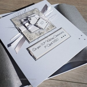 Platinum 70th wedding anniversary card