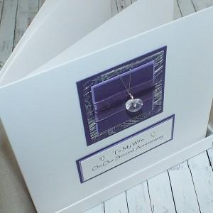 Purple Sparkle Boxed Anniversary Card
