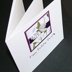 Butterfly and Leaves Birthday Card