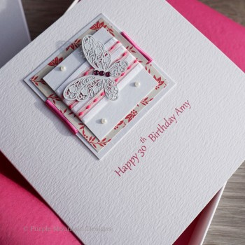 """Boxed Mother's Day Card """"Butterfly Ribbons"""""""