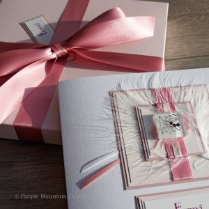 Pale Pink Cat Birthday Card - Larger size 19cm