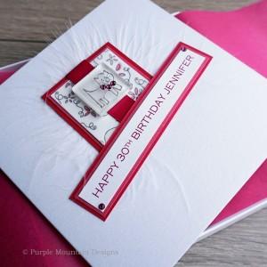 Diamonte Cat Luxury Boxed Birthday Card