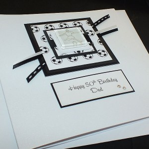 Football Birthday Card - Black/White