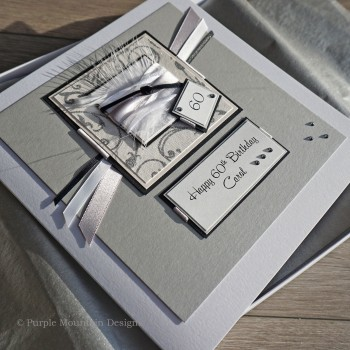 Jet Heart Birthday Card - larger size 19cm