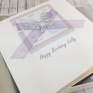 Lilac Butterflies Boxed Birthday Card