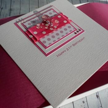 Polka Dot Butterfly Boxed Birthday Card