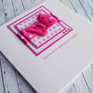 Polka Dot Butterfly Birthday Card