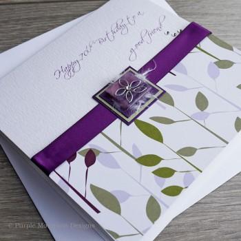 Purple Daisy Birthday Card