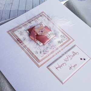 Twisted Ribbons Birthday Card - Larger size 19cm
