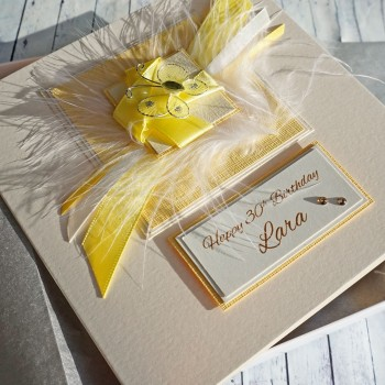 Yellow Butterfly Boxed Birthday Card