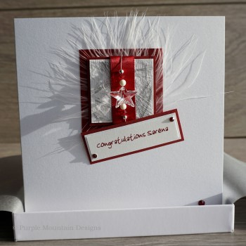 "Boxed Congratulations Card ""Red Star"""