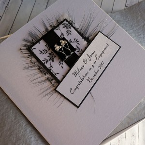 Black & White Engagement Card