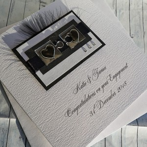 Jigsaw Hearts Engagement Card