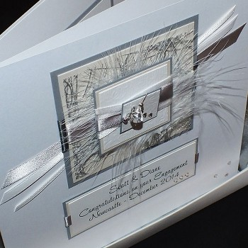 Silver Engagement Card