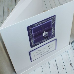Purple Sparkle Boxed Engagement Card
