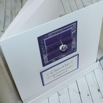 Purple Sparkle Boxed Engagement Card