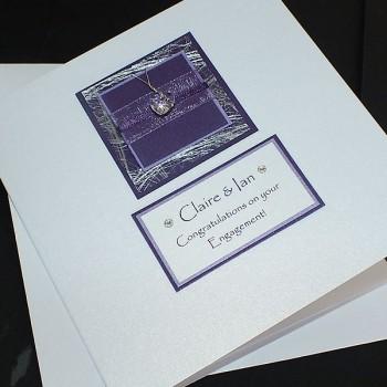 Purple Sparkle Engagement Card