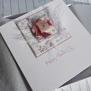 """Boxed Mother's Day Card """"Twisted Ribbons"""""""
