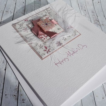 """Handmade Mother's Day Card """"Twisted Ribbon"""""""