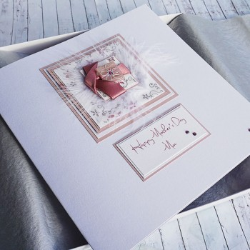 "Boxed Mother's Day Card ""Twisted Ribbons"" - large"