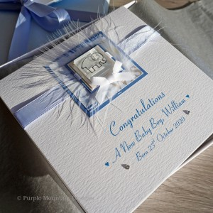 New Baby Boy Card Blue Elephant