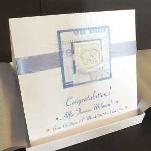 New Baby Boy Card Blue Elephant