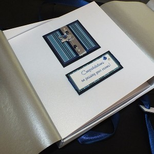 Blue Stripes Boxed Congratulations Card
