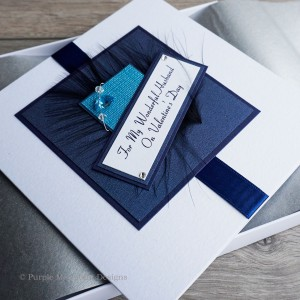 "Luxury Valentine's Day Card ""Blue Fizz"""