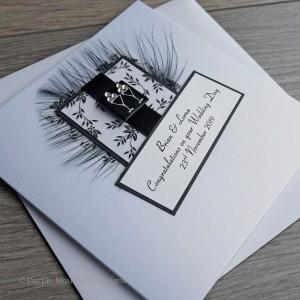 "Handmade Wedding Card ""Black & White"""