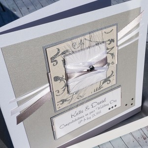 "Wedding Day Card ""Champagne"""