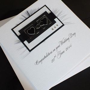 "Wedding Day Card ""Jigsaw Hearts"""