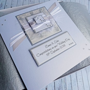 Wedding Day Card in Silver