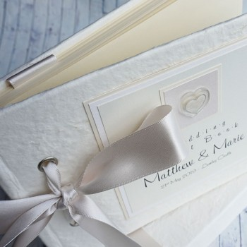 Atholl wedding guest book - textured finish