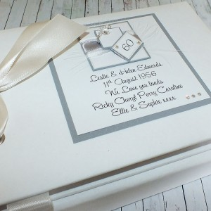 Diamond Wedding Anniversary Guest Book