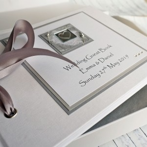 Liath Wedding Guest Book - Linen Finish